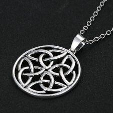 New Trinity Celtic Knot Silver Plated Chain Pendant Necklace Charm Irish Love