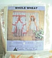 """Cadillac Curtain Corp. 36"""" Tier & Swag set Whole Wheat"""