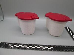 Tupperware 2 Sahne Milch Kännchen Kanne ca. 330 mL Retro Vintage