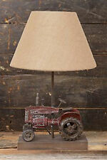 Rustic Decor Tractor Tabletop Lamp Electric Tabletop Lamp Lighting w/ Shade New