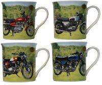 Leonardo Collection Set of 4 China Coffee Mugs Set Motorbike Collector Mugs