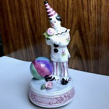 "SEND IN THE CLOWNS 6.5"" Music Box 1996 YAMADA Originals Lefton Porcelain WORKS"