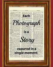 Photography Quote Dictionary Art Print Poster Picture Photograph Camera Gift