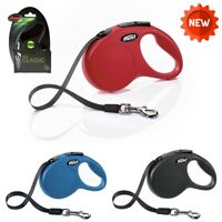 Flexi Dog Lead CORD Classic New Style Retractable Dog Lead 8m Small Medium