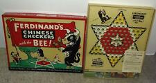 """EX!DISNEY1939 FERDINAND""""CHINESE CHECKERS""""BOXED GAME SET BY PARKER BROS.-COMPLETE"""