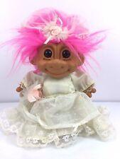 "Russ Troll Bride Wedding Dress 7"" Large Toy Figure Figurine Has Garter Belt"