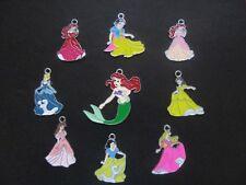 10 X Princesse émail métal pendentifs charms