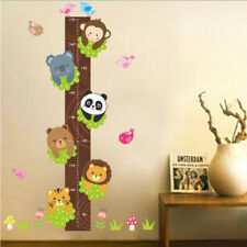 Animals Wall Sticker Monkey Panda Bear Measure Wallpaper Art Decor For Kids Room