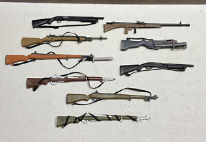 LOT Vintage GI Joe 1/6 weapons Shotgun Rifle Bayonet for 12 inch