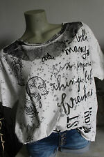 Made in Italy T- Shirt blogger Top S M L XL Vintage weiß grau silver Oversized
