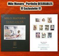 Portfolio Manara Désirables 100 ex. numéroté signé 29,5x39,5 cm
