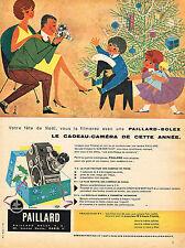 PUBLICITE ADVERTISING 045  1958  PAILLARD BOLEX  B 8   caméra cadeau par