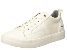 G Star Raw Scuba Plateau Womens UK 6 EU 39 White Faux Leather & Denim Trainers