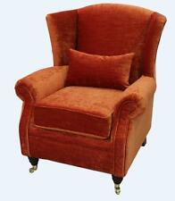 Ashley Fireside High Back Wing Armchair Pastiche Burnt Orange Velvet