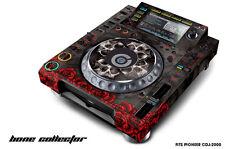 Skin Decal Sticker Wrap for Pioneer CDJ 2000 Turntable DJ Mixer Pro Audio BONES