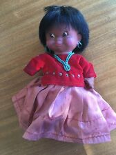 Vintage Rare Regal Canada Indian Doll Featuring Turquoise Color Necklace