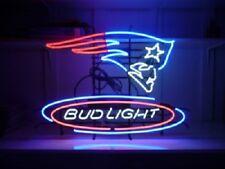 "New Bud Light New England Patriots NFL Neon Light Sign 17""x14"""