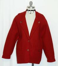 GEIGER ~ BOILED WOOL Women RED Winter AUSTRIA Walk SWEATER Jacket Over Coat 14 L