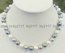 Genuine 10mm Multi-color South Sea Shell Pearl Round Beads Necklace 18 Inches