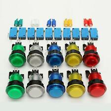 10 Pcs LED Illuminated Full Colors Switch buttons For Arcade DIY Parts JAMMA Lot
