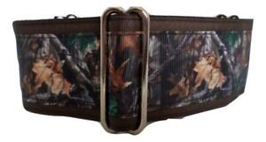"""2"""" Martingale Dog Collar, 2 Sizes, Lined, Brown Tree Camo"""