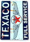 Texaco Gas Oil Sign, Station, Garage, Auto Shop, Retro Rustic Tin Sign A744