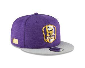Minnesota Vikings New Era 2018 NFL Official Sideline Road 9FIFTY Snapback Hat