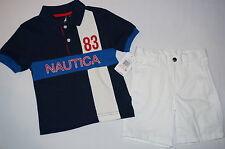NWT $42 NAUTICA 2pc set  BOY size 24M white, blue
