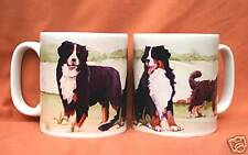 BERNESE MOUNTAIN DOG MUG OFF TO THE DOG SHOW WATERCOLOUR PRINT SANDRA COEN
