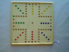 WAHOO WA HOO BOARD GAME 20 x 20 inch BIG 1 inch marble 4 player.  KK23