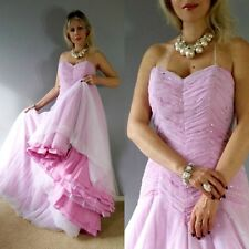 Alfred Angelo Pink PRINCES BEADED Ruched Wedding Prom Ball Evening MAXI Dress