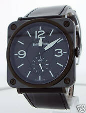 BELL & ROSS INSTRUMENT BR-S BLACK CERAMIC 39MM UNISEX