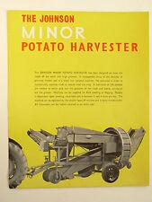 Prospectus  Arracheuse Pommes de Terre JOHNSON    Tracteur  catalogue brochure