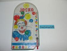 Vintage Metal Jocko The Clown Pinball Game Wolverine Toy Machine Marble Arcade