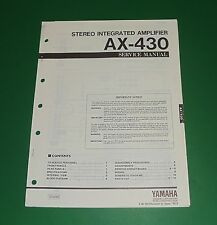 Original Yamaha AX-430 Service Manual