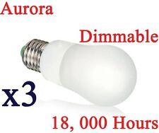 3 X Aurora ahorro de energía 8w Regulable Bombilla Gls CFL Lámpara E27 es blanco cálido