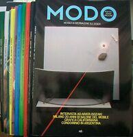 MODO (mensile di informazione sul design) - 1982 ANNATA COMPETA - 10 numeri