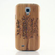 Samsung Galaxy S4 IV Case Bamboo Engraved Tree of Life Cover Natural Hard Wood