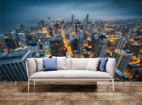 3D Wall Prints Chicago Skyline Photo Art Wallpaper Mural Tapestry Decor Part 13