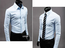 Herren Poloshirt Slim Fit Business Hochzeit Formal Figurbetont Hemde Shirts Tops