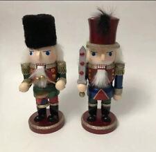 christmas Nutcrackers Set Of Three 10� brand new