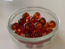 28 Bakelite 14mm Honey Amber Swirled  Loose Beads With 1/2 Holes