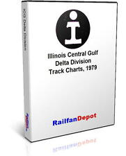 Illinois Central Gulf Delta Division track chart 1979 - PDF on CD - RailfanDepot