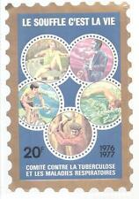FRANCE --- Timbre -Vignette 20 Francs 1976/1977 --- Comité Contre la Tuberculose
