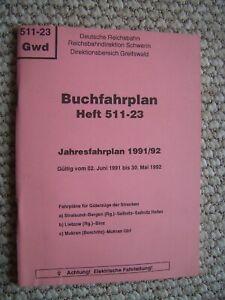 DR-Buchfahrplan Heft 511-23 -Rbd Gwd-Güterzüge-1991/92-Saßnitz-Mukran