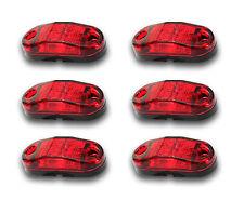 SET OF 6 x 12V 2 SMD LED RED REAR SIDE MARKER PARKING TAIL LIGHTS IVECO MERCEDES