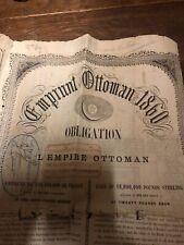 Emprunt Ottoman 1860 Très Rare