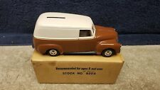 Vintage Ertl 1950 Panel Truck Bank Brown / White 1/25 Scale Mint Boxed