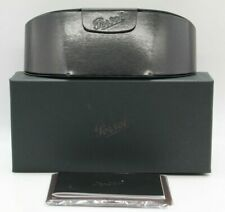 NEW PERSOL EYEGLASSES SUNGLASSES BLACK MAGNETIC LEATHER CASE CLOTH DOCUMENTS BOX
