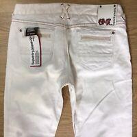 BNWT Ladies Superdry Dry White Skinny Jeans W32 L32 (779j)